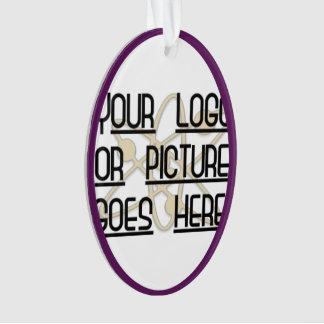 Oval Purple Customizable Template Ornament