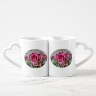 Oval Rose Design Interlocking Mugs / Cups