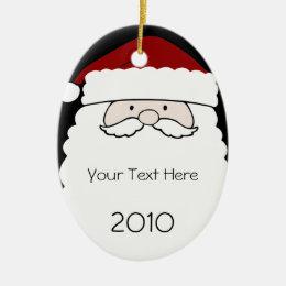 Oval Santa Claus Christmas Ornament