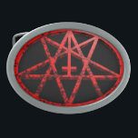 "Oval satanic Belt Buckle<br><div class=""desc"">SATANIC WORLD</div>"