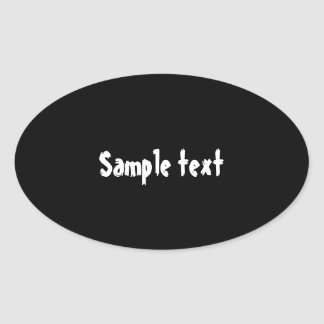 OVAL  Shades - EDIT Color Shade ADD Text Image Oval Sticker