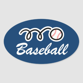 Oval shape baseball stickers | personalizable