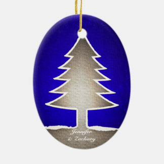 Oval Shaped Christmas Tree Ornament - Reversable