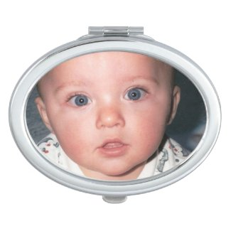 Oval-Shaped Photo Compact Mirrors