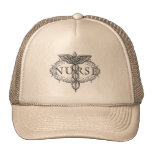 Oval Silver Caduceus Nurse Trucker Hat