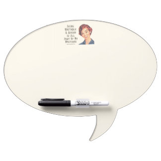 Oval Speech Bubble w/ Pen Dry-Erase Board