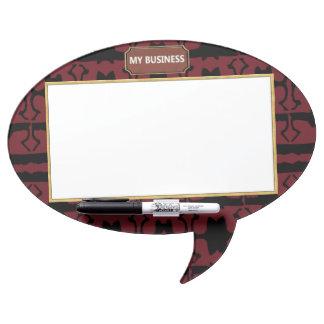 Oval Speech Bubble w/ Pen Dry Erase Plain Board