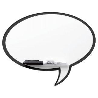 Oval Speech Bubble Wall Decor in Black Dry Erase Board