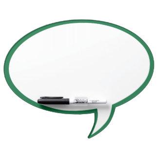 Oval Speech Bubble Wall Decor in Green Dry-Erase Board