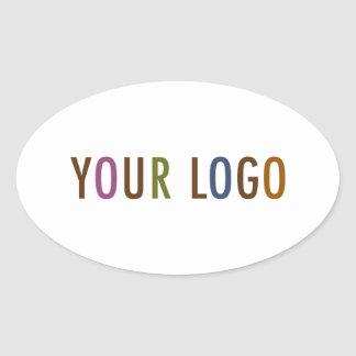 "Oval Sticker 4.5"" Custom Business Logo Promotional"