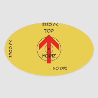 Oval Sticker - horiz - template