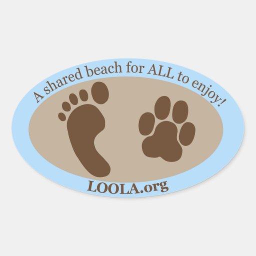 Oval Sticker: LOOLAorg Oval Sticker