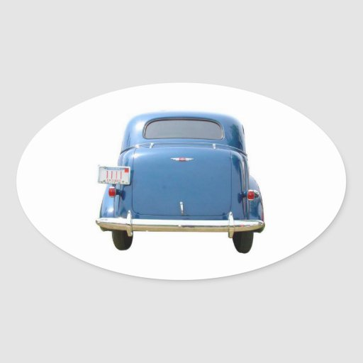Oval Stickers, Vintage Blue Chevy Father's Day Oval Sticker