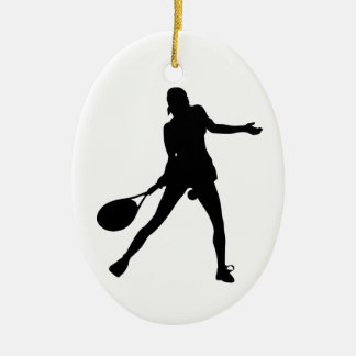 Oval Tennis Christmas Ornament for Girls