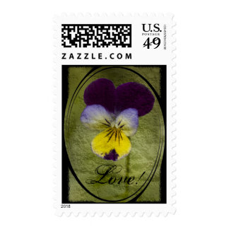 Oval Textured Viola, Love! Stamps