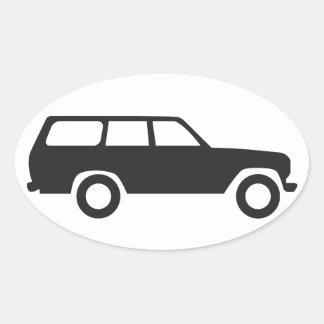 Oval Toyota Land Cruiser 60 Series Icon Sticker