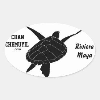 Oval Turtle Bumper Sticker