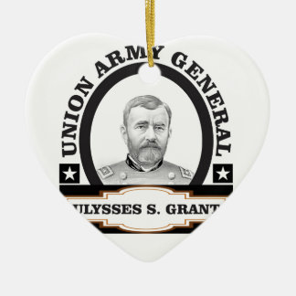 oval us grant image ceramic ornament
