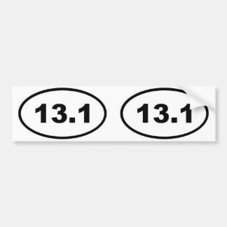 óvalo 13,1 pegatina de parachoque