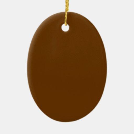 """Óvalo 3,32"""" del ornamento de la etiqueta del adorno ovalado de cerámica"""