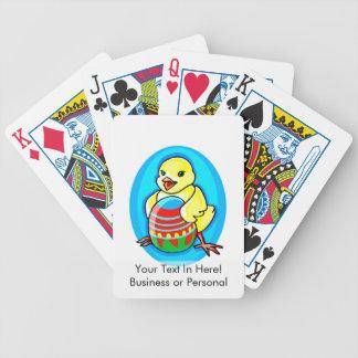 óvalo azul del huevo grande amarillo feliz del pol baraja cartas de poker