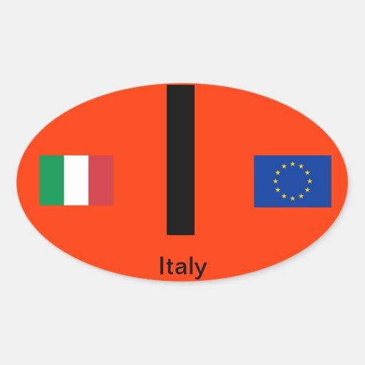 Óvalo BumperSticker del Euro-Estilo de Italy* Pegatinas Ovales