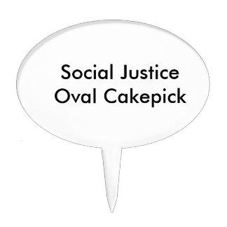 Óvalo Cakepick de la justicia social Decoración De Tarta