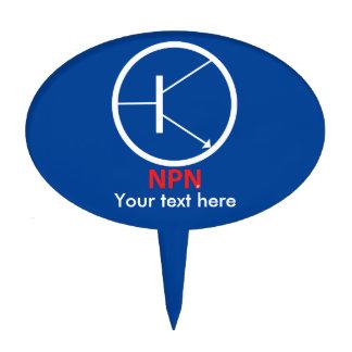 Óvalo Cakepick del transistor de NPN Decoraciones De Tartas