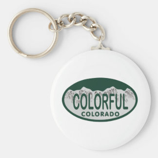 Óvalo colorido de la licencia llavero personalizado