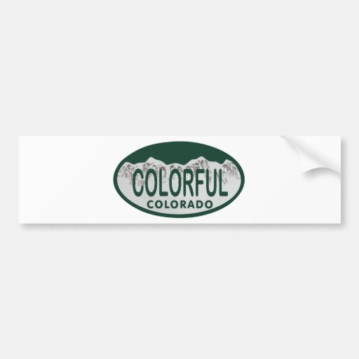 Óvalo colorido de la licencia pegatina para auto