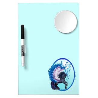 Óvalo con alas azul de Pegaso Pizarras