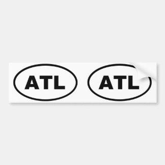 Óvalo de ATL Atlanta Pegatina Para Auto