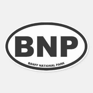 Óvalo de Banff Alberta Colcomanias De Óval Personalizadas