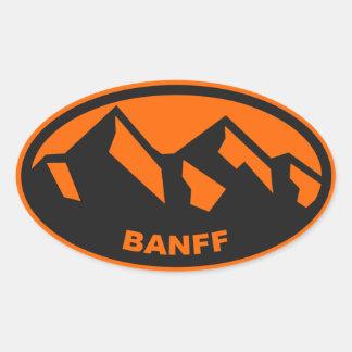 Óvalo de Banff Alberta Pegatina Ovalada