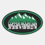Óvalo de cobre de la montaña calcomanías de ovales