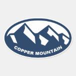 Óvalo de cobre de la montaña calcomania oval personalizadas