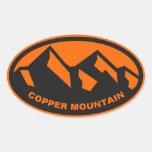 Óvalo de cobre de la montaña pegatinas ovaladas personalizadas