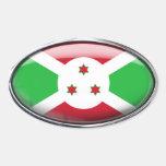 Óvalo de cristal de la bandera de Burundi Colcomanias Óval Personalizadas