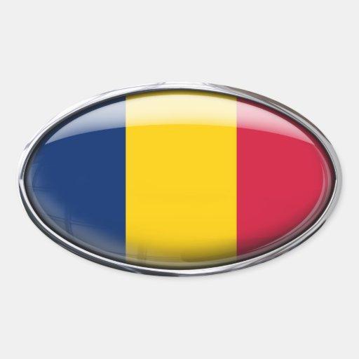 Óvalo de cristal de la bandera de República eo Colcomanias Ovaladas Personalizadas