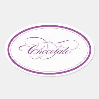 Óvalo de Custom_Chocolate Pegatina Ovalada