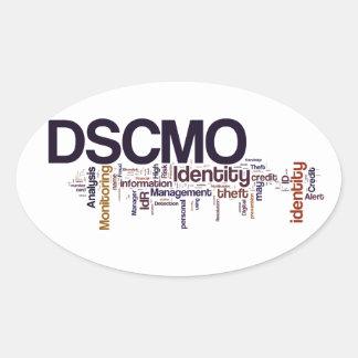 Óvalo de DSCMO Pegatinas Ovaladas Personalizadas