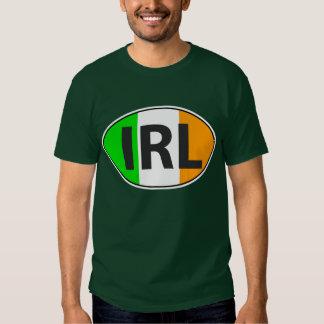Óvalo de IRL con la bandera Camisas