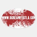 Óvalo de la etiqueta engomada de Screamfest
