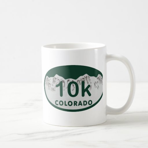 óvalo de la licencia 10k tazas