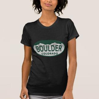 Óvalo de la licencia de Boulder Camisetas