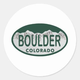 Óvalo de la licencia de Boulder Etiqueta Redonda