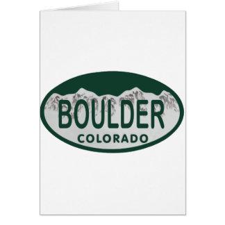 Óvalo de la licencia de Boulder Felicitación