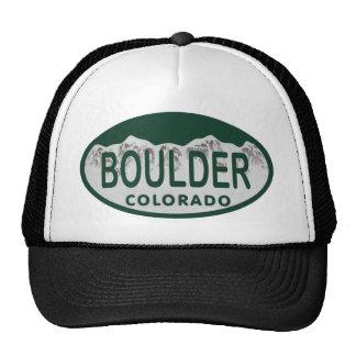 Óvalo de la licencia de Boulder Gorras