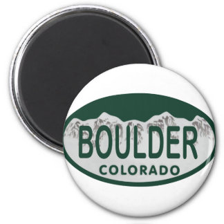Óvalo de la licencia de Boulder Imán De Frigorífico