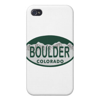 Óvalo de la licencia de Boulder iPhone 4/4S Funda